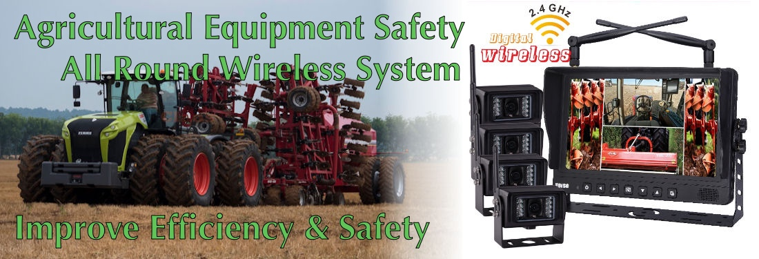 Agricultural Equipment Safety All Round View Camera System