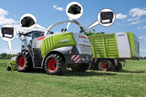 Farm Tractor All Round Camera Safety System