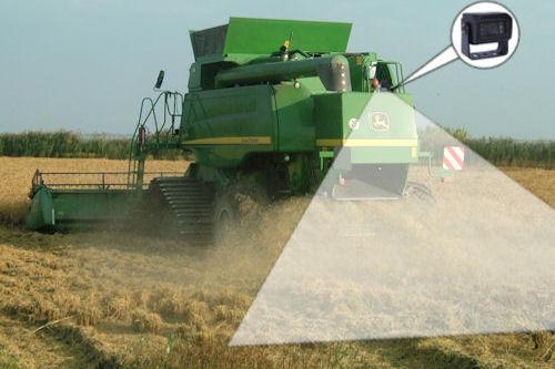 Agricultural vehicles safty camera system combine harvester
