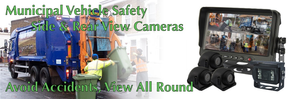 Municipal Vehicle Safety Aviod Accidents with all round view camera system