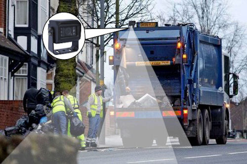 Rear View Camera on Refuse Collection