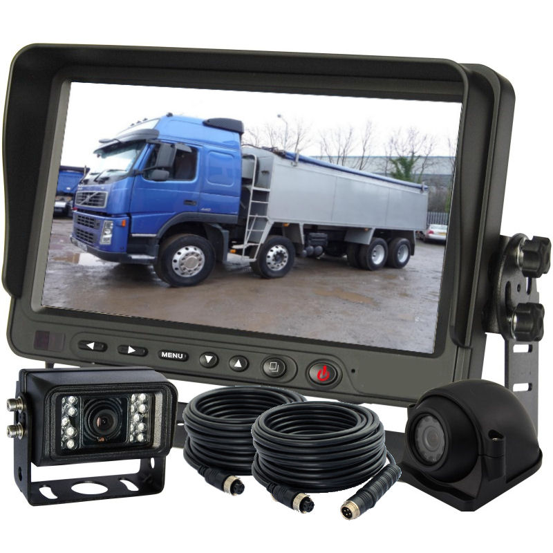 Reversing & Side View Cameras with 3 Channel Monotor