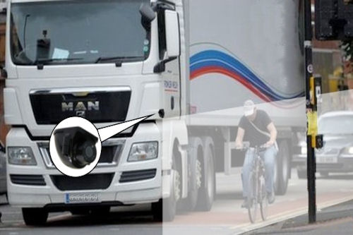 Keep cyclists safe lorry side view cameras