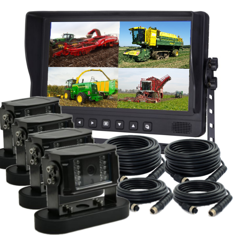 9 inch monitor with 4 mag mount cameras