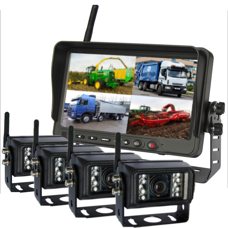 Wireless 4 camera vehicle cctv system