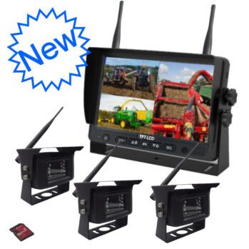 """3 Wireless Camers and 7"""" Monitor DVR System"""