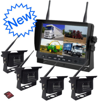 "Wireless 4 Camera System with 7"" DVR Monitor"